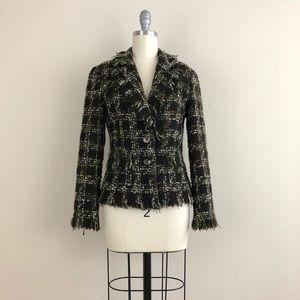 Avenue Montaigne Paris Fringe Tweed Blazer
